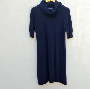 Banana republic navy blue wool dress